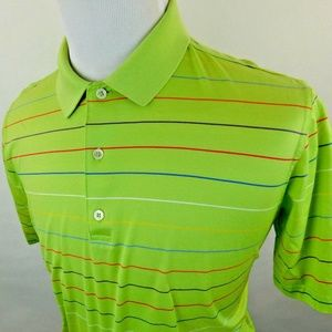 Bobby Jones Men's Short Sleeve Golf Polo Striped L